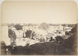 Old Gaya from the centre of the town looking north